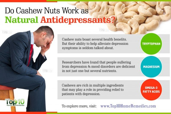 cashews work as natural antidepressants