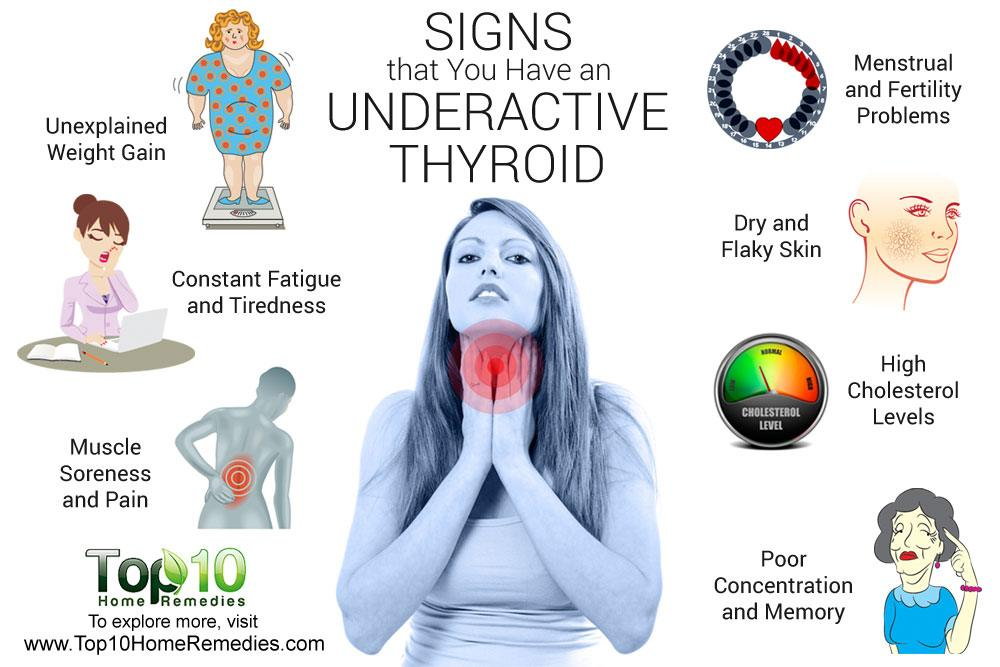 10 signs and symptoms that you have an underactive thyroid top