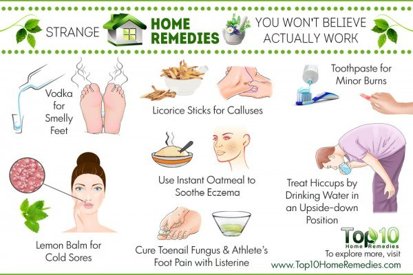 strange home remedies that actually work