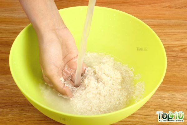 wash the rice