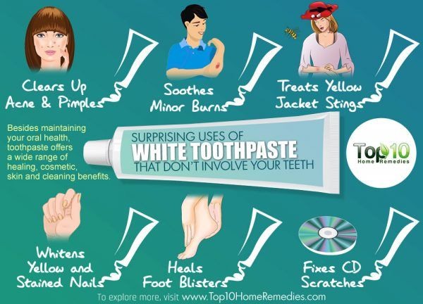 surprising uses of white toothpaste