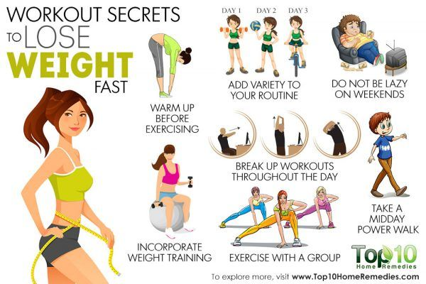 10 Workout Secrets To Lose Weight Fast Top 10 Home Remedies