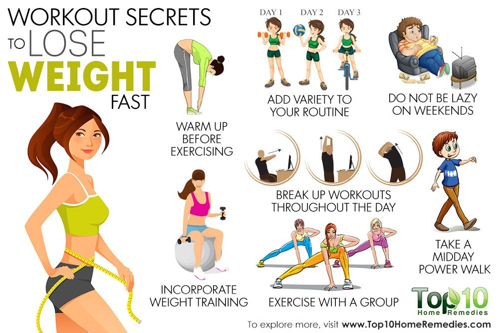 10 Workout Secrets to Lose Weight Fast | Top 10 Home Remedies