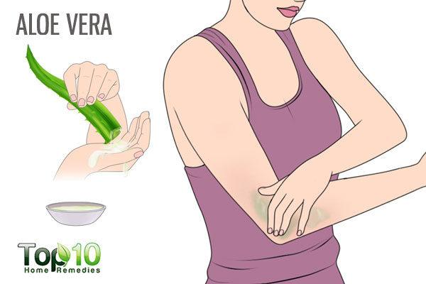aloe vera for dry elbows