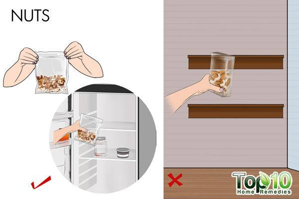 don't store nuts at room temperature
