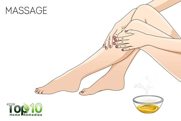 Massage to get relief from leg cramps