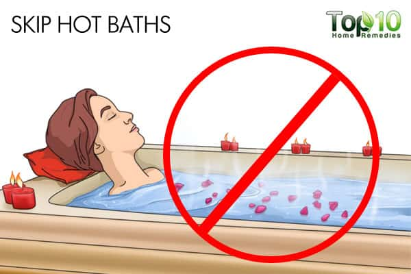 Skip hot baths to deal with winter eczema
