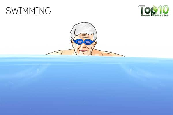 Swimming-best exercises for senior adults