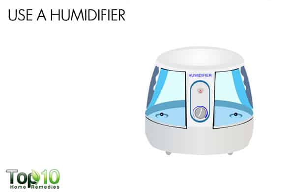 Use a humidifier to deal with winter eczema