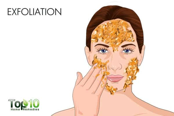 Exfoliation for bumps on forehead