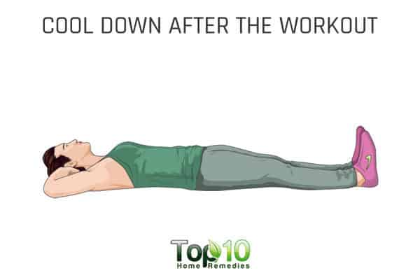 Cool down after workout