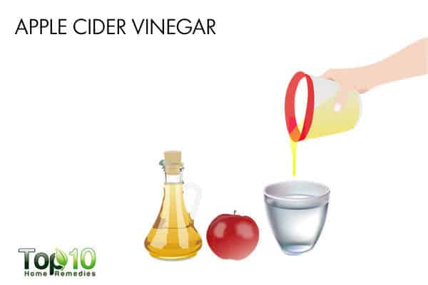 apple cider vinegar to reduce pain during swallowing