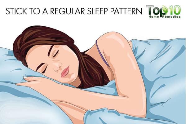 stick to a regular sleep pattern when working night hours