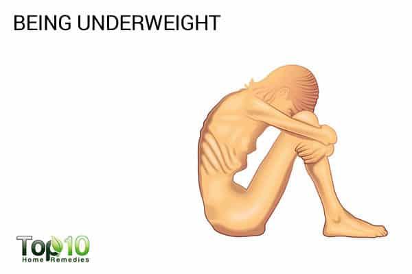 being underweight causes menopause