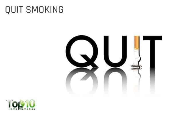 quit smoking to control high blood pressure