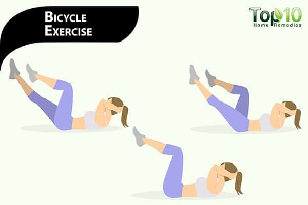 bicycle exercise to get of pot belly