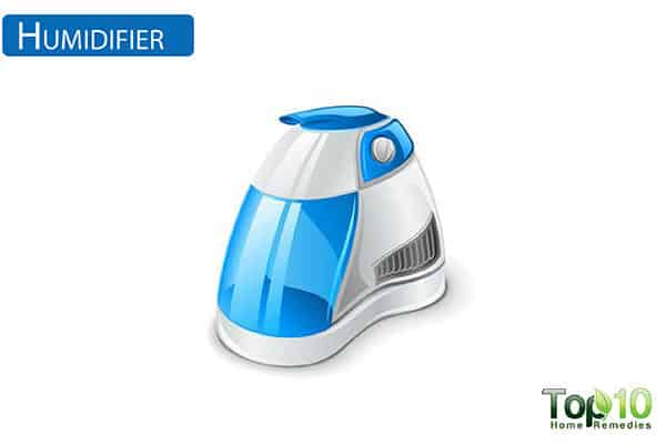use humidifier to relieve ear pain in kids