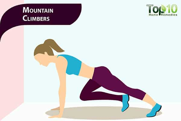 mountain climbers to get rid ofpot belly