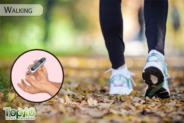 walking for diabetes management