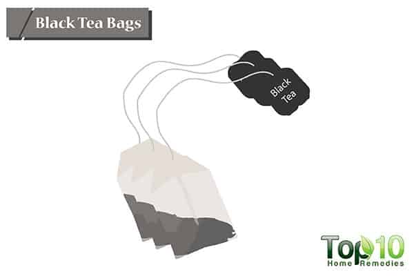 black tea bags to treat hot spots on dogs