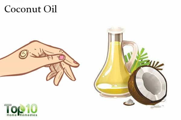 coconut oil for wrinkled hands