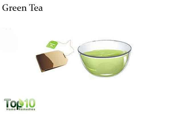 green tea for wrinkled hands