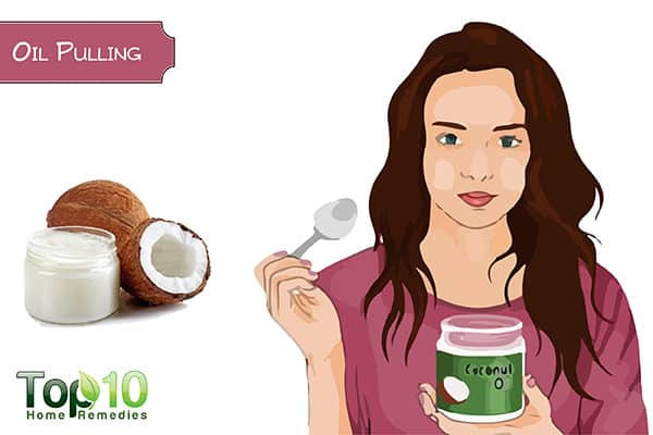 oil pulling to whiten your teeth