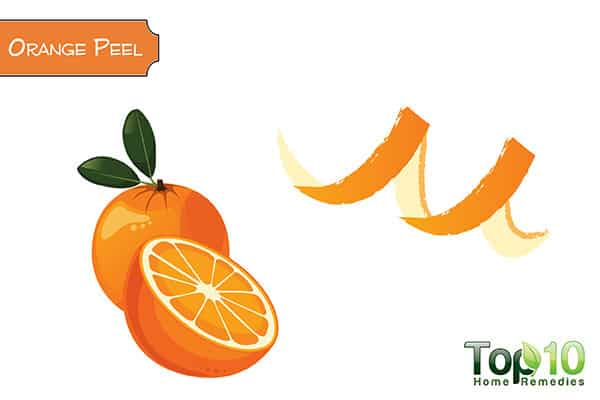 orange peel to remove stains on teeth