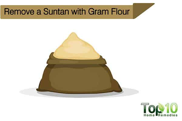 remove suntan with gram flour face pack