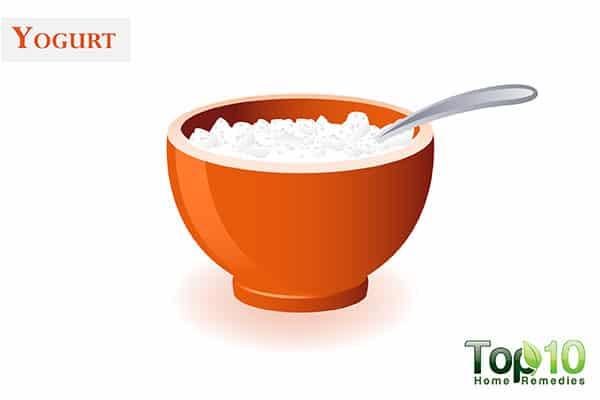 yogurt for dark knuckles