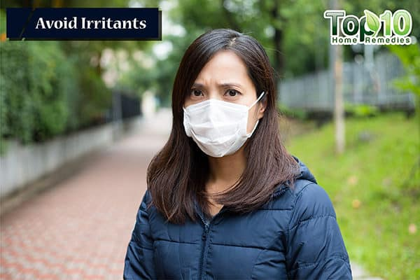 avoid irritants to avoid dry cough