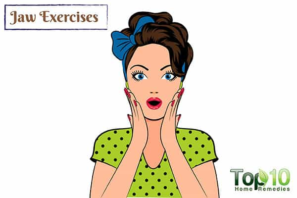 jaw exercises for TMJ pain