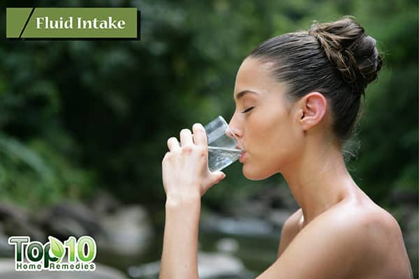 drink more water to treat dry cough