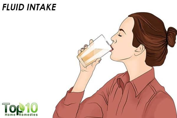 fluid intake to reduce head cold