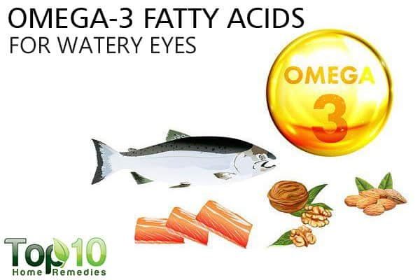 omega-3 fatty acids to treat watery eyes