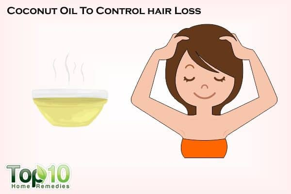 coconut oil to control hair loss