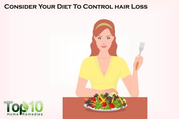 diet to control hair loss