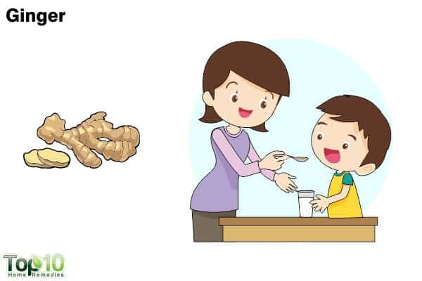 ginger for sore throat in children