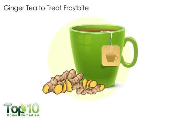 ginger tea to treat frostbite
