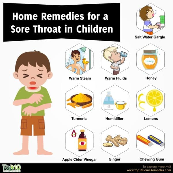 home remedies for sore throat in children