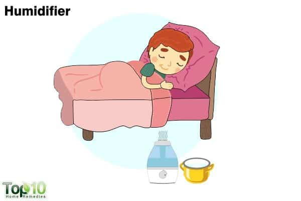 humidifier for sore throat in children