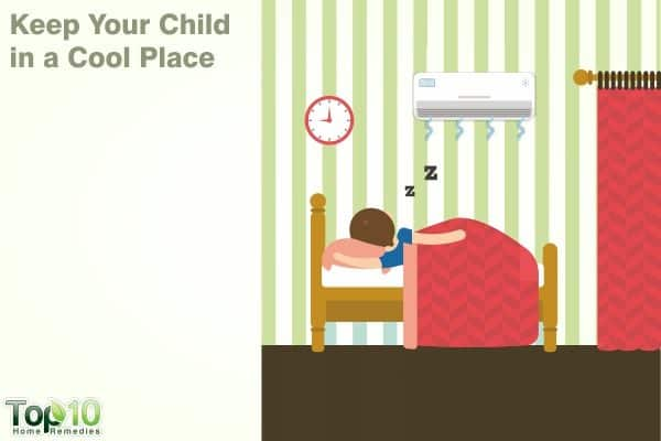 cool place to reduce fever in kids