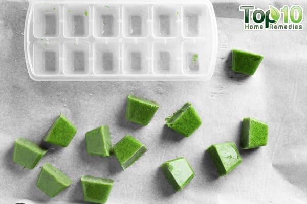 ice cubes beauty benefits