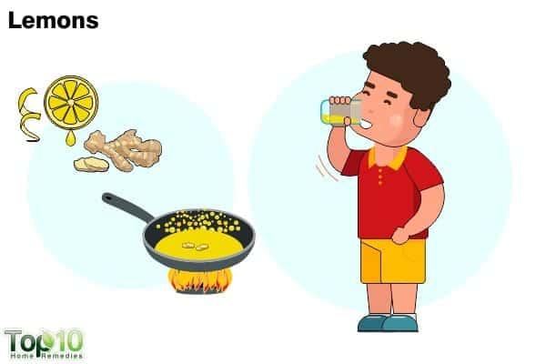 lemons for sore throat in children