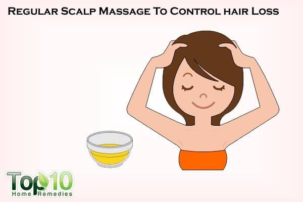 scalp massage to control hair loss