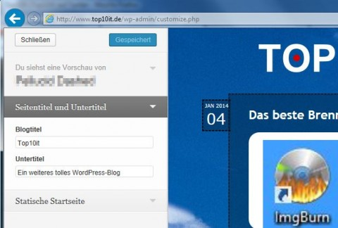 Wordpress Theme Seitentitel
