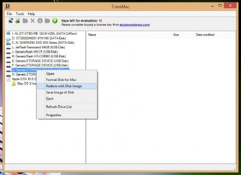 TransMac: Restore with Disk Image