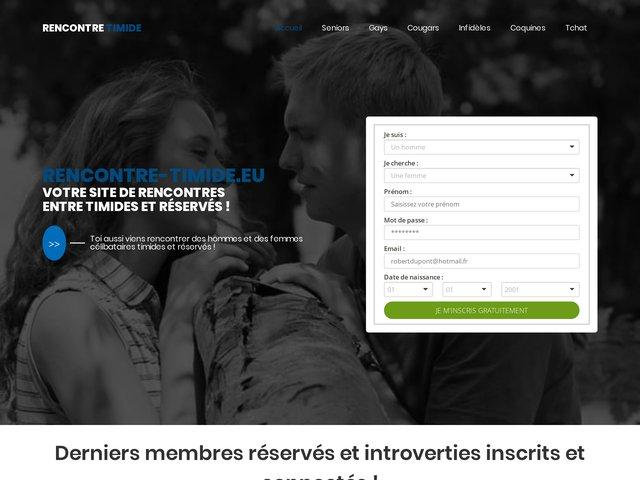 Rencontre-timide.eu : Site de rencontres entre timides