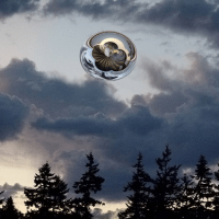Large Silver Sphere Over Ohio