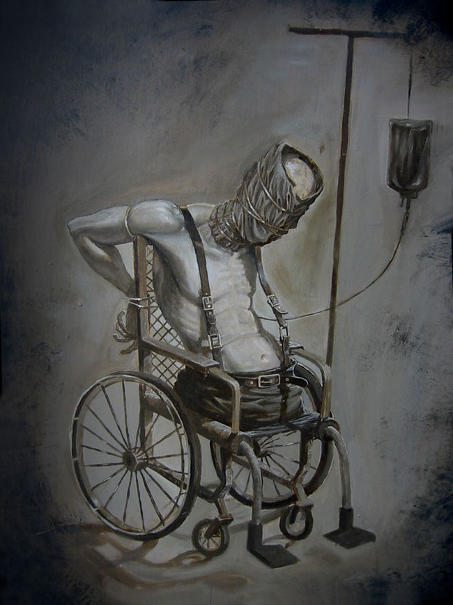 wheelchair quad navy blue dining room chair cushions these drawings of monsters by anastasios gionis will give you the creeps